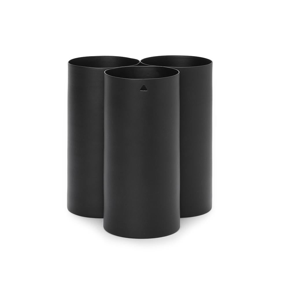 Trio Vase in Black