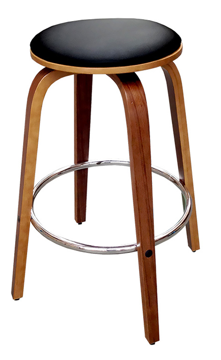 Upholstered Timber Bar Stool