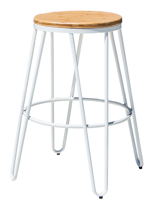 Timber and Steel Bar Stool
