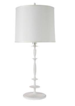 White Metal Lamp