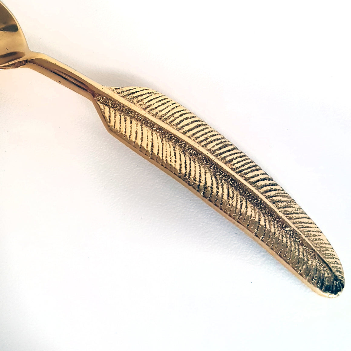 Brass leaf spoon