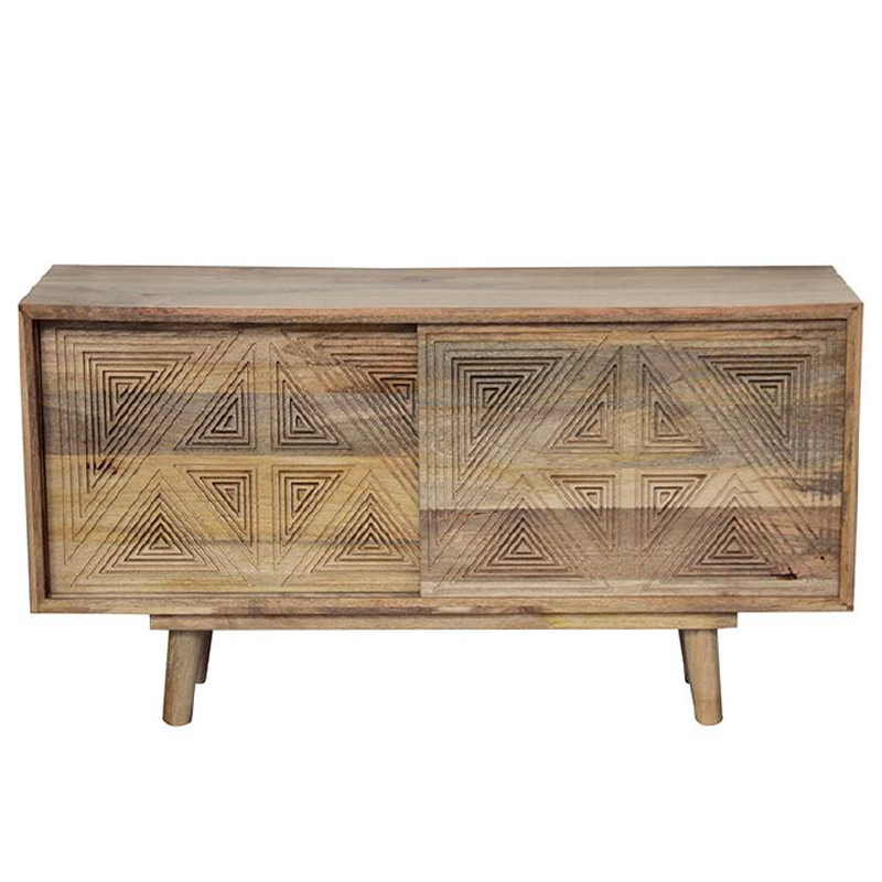 Mangowood Sideboard with Angular Design
