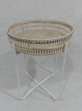 Rattan Tray Side Table