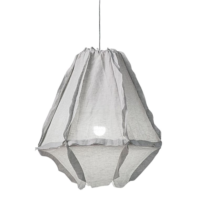 Large Cumulus Pendant with Linen Shade