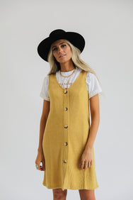 Suns Up Button Dress