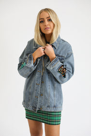 Sparkle On Denim Jacket
