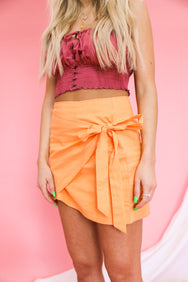 Devon Wrap Mini Skirt