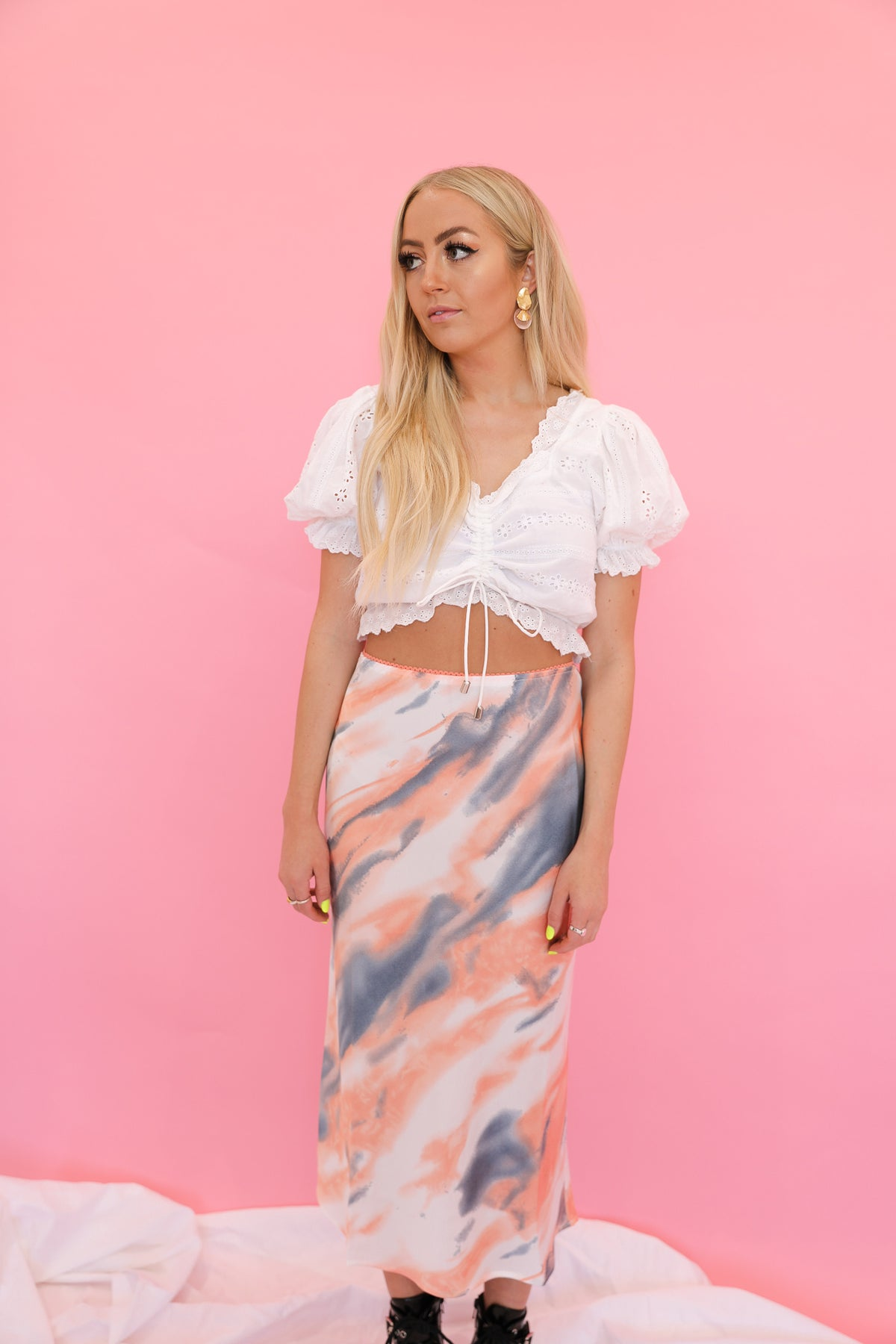 Vintage Cloud Satin Skirt
