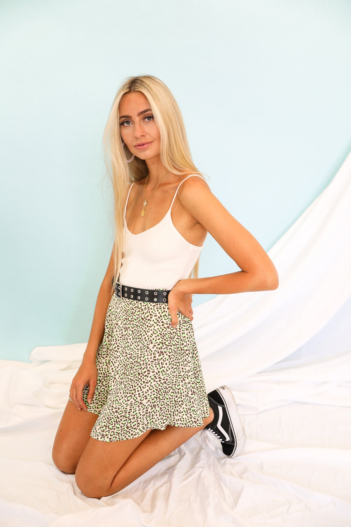 Joey Leopard Mini Skirt