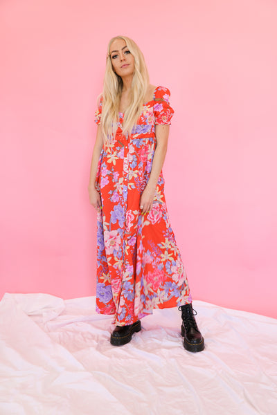 What's The Tea Floral Maxi