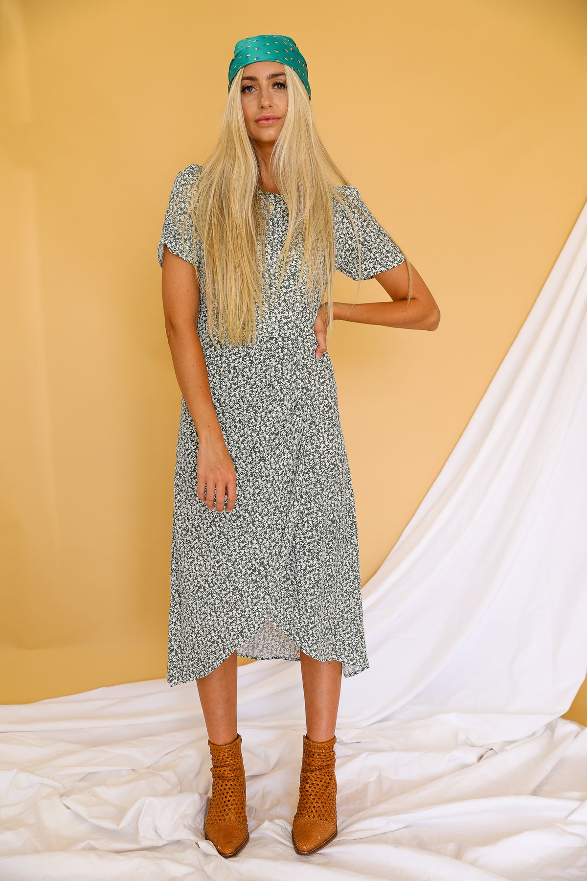 Sage You Love Me Midi Dress