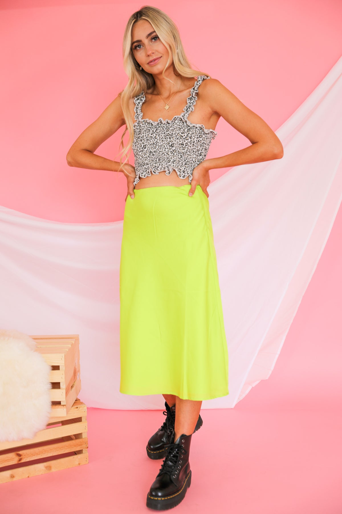 Center Of Attention Midi Skirt
