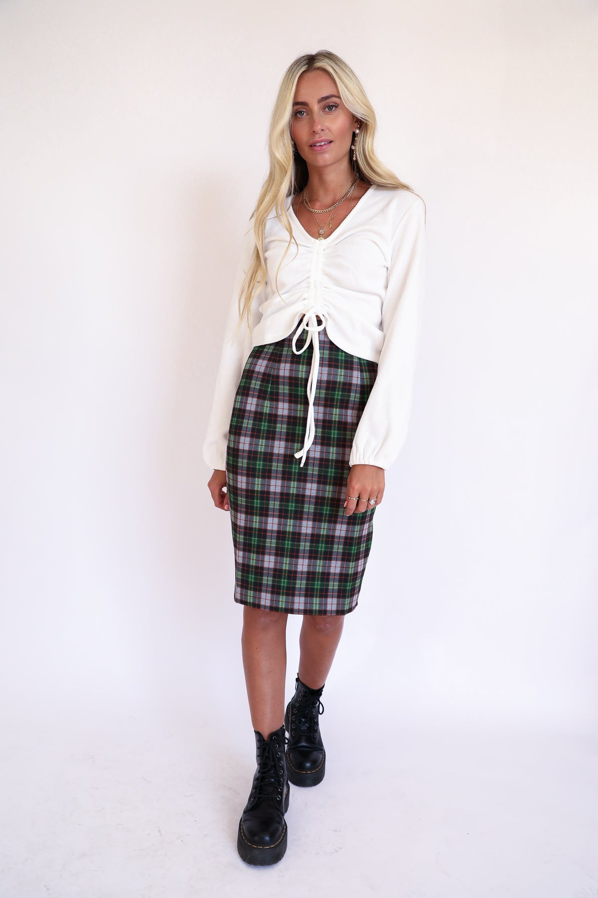 Feelin Kilty Plaid Skirt