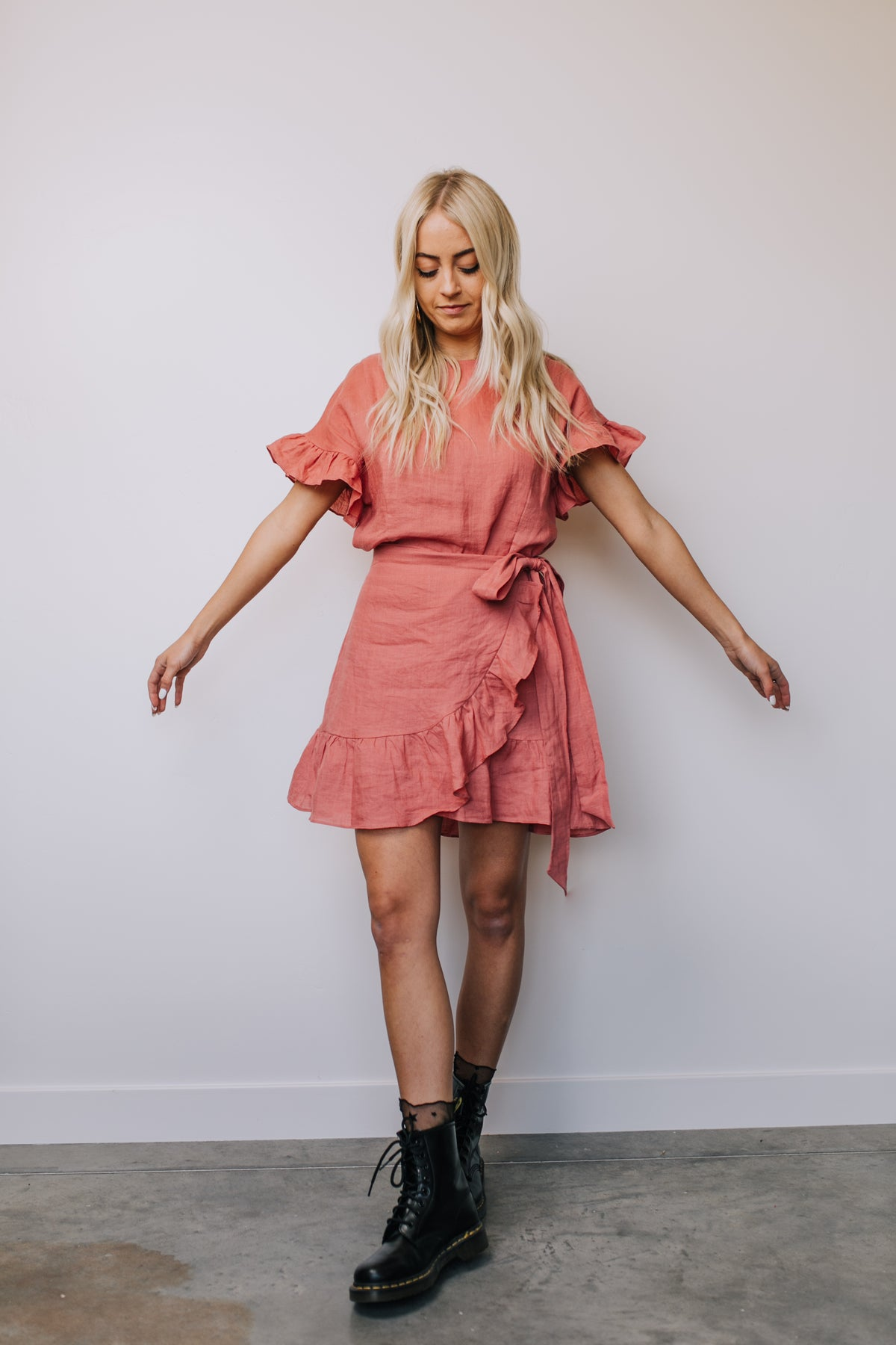 Wrap Star Mini Dress