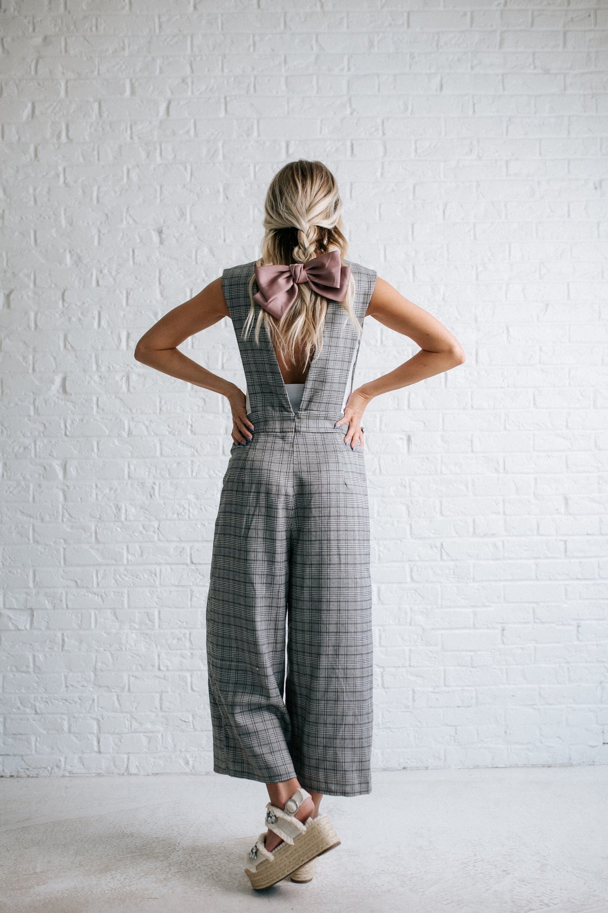 Plaid Love Overall Jumpsuit