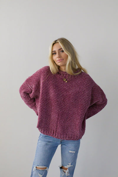 Purple Feelings Sweater