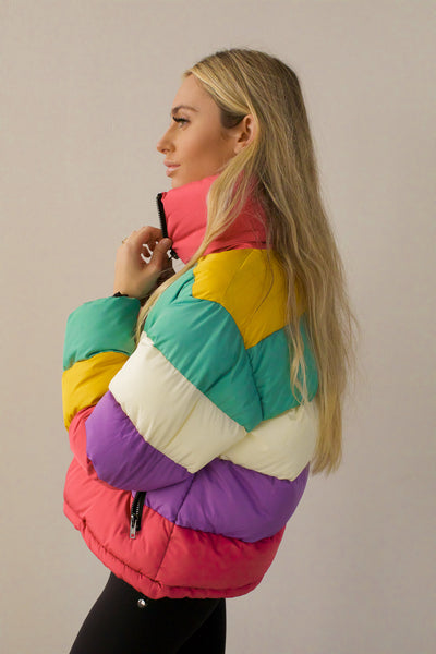 Rainbow Road Puffer Coat