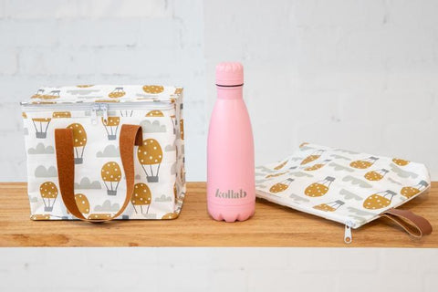 KOLLAB - Flask 350ml Powder Coated Pastel Pink