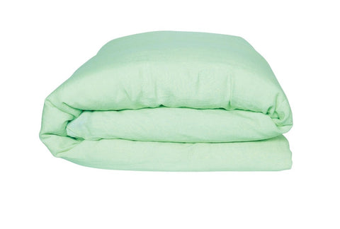 KIP & CO - SPRAY MINT LINEN KING QUILT COVER