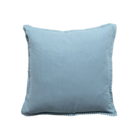 CADET BLUE BLANKET STITCH CUSHION
