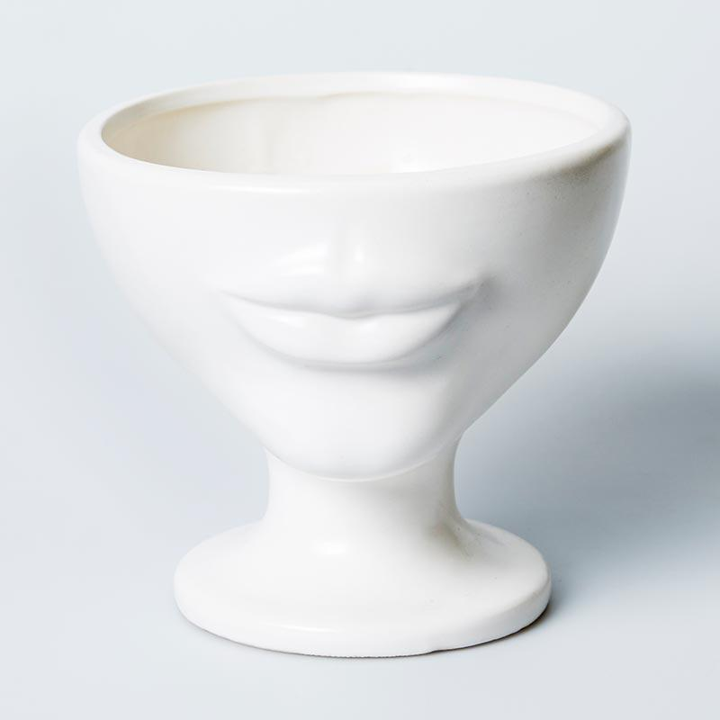 SIMONE PLANTER - WHITE