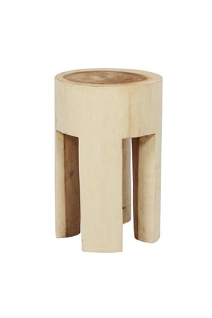 WOODLAND TIMBER FOUR LEG STOOL