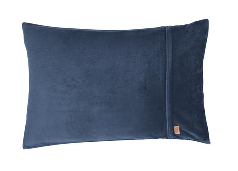 KIP & CO - PETROL BLUE VELVET PILLOWCASE SET