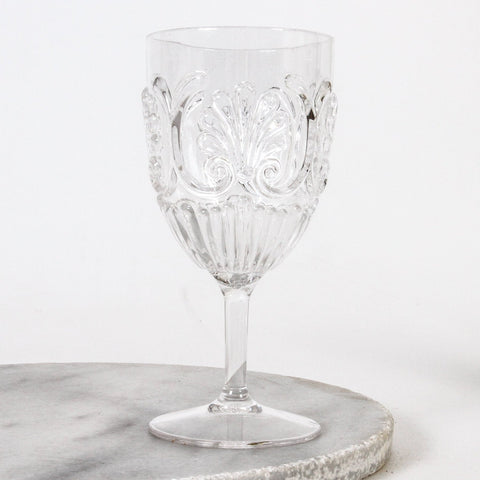 FLEMINGTON ACRYLIC WINE GLASS - CLEAR