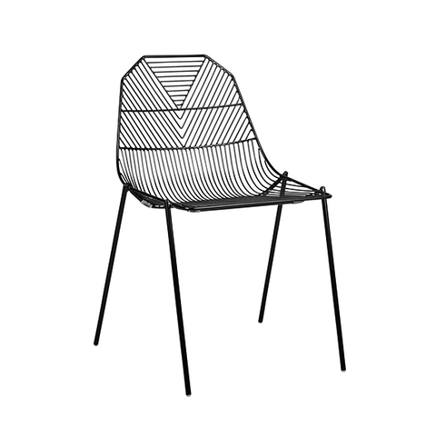 ARROW DINING CHAIR - BLACK GLOSS
