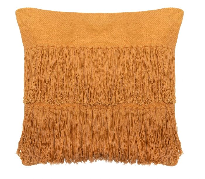 BANGS FRINGED CUSHION - TAN