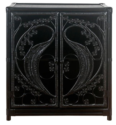 PEACOCK CABINET - BLACK