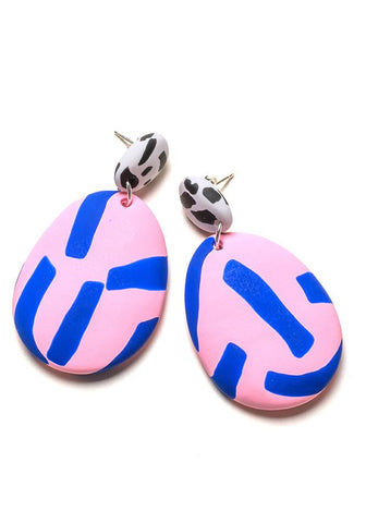 BLUE & ROSE TAPE DROP EARRINGS