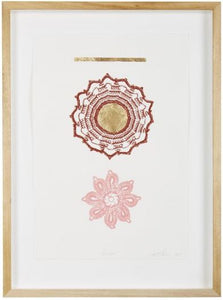 BLOSSOM FINE ART PRINT WITH GOLD LEAF