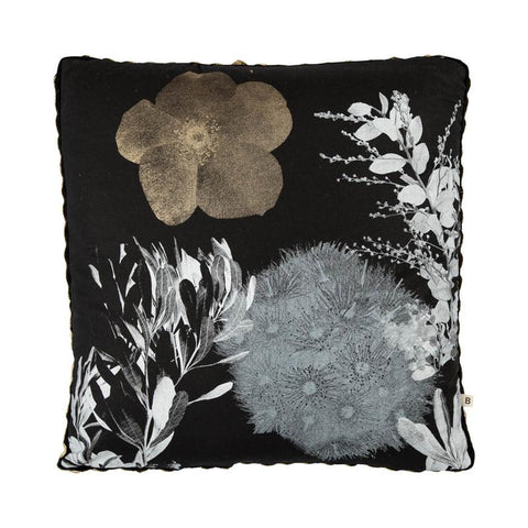 FLOWERING GUM BLACK GOLD CUSHION
