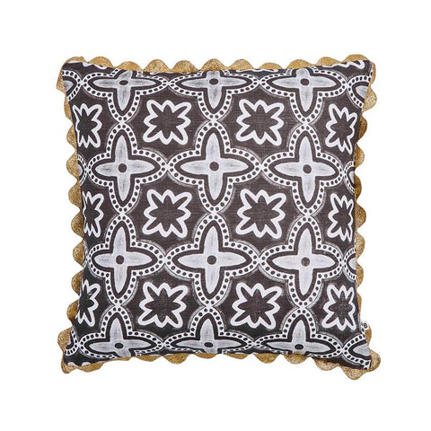 DAINTREE TILE BLACK CUSHION