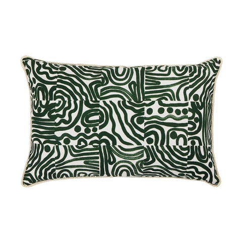 SWELL FOREST GREEN CUSHION