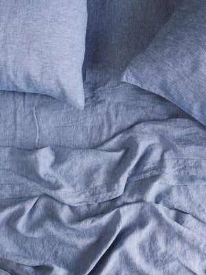 CHAMBRAY PILLOWCASE SET