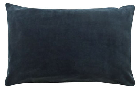 CASTLE - CHARCOAL VELVET PILLOWCASE
