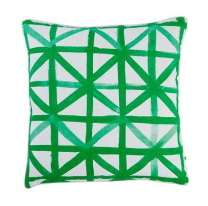 CHECK GREEN CUSHION