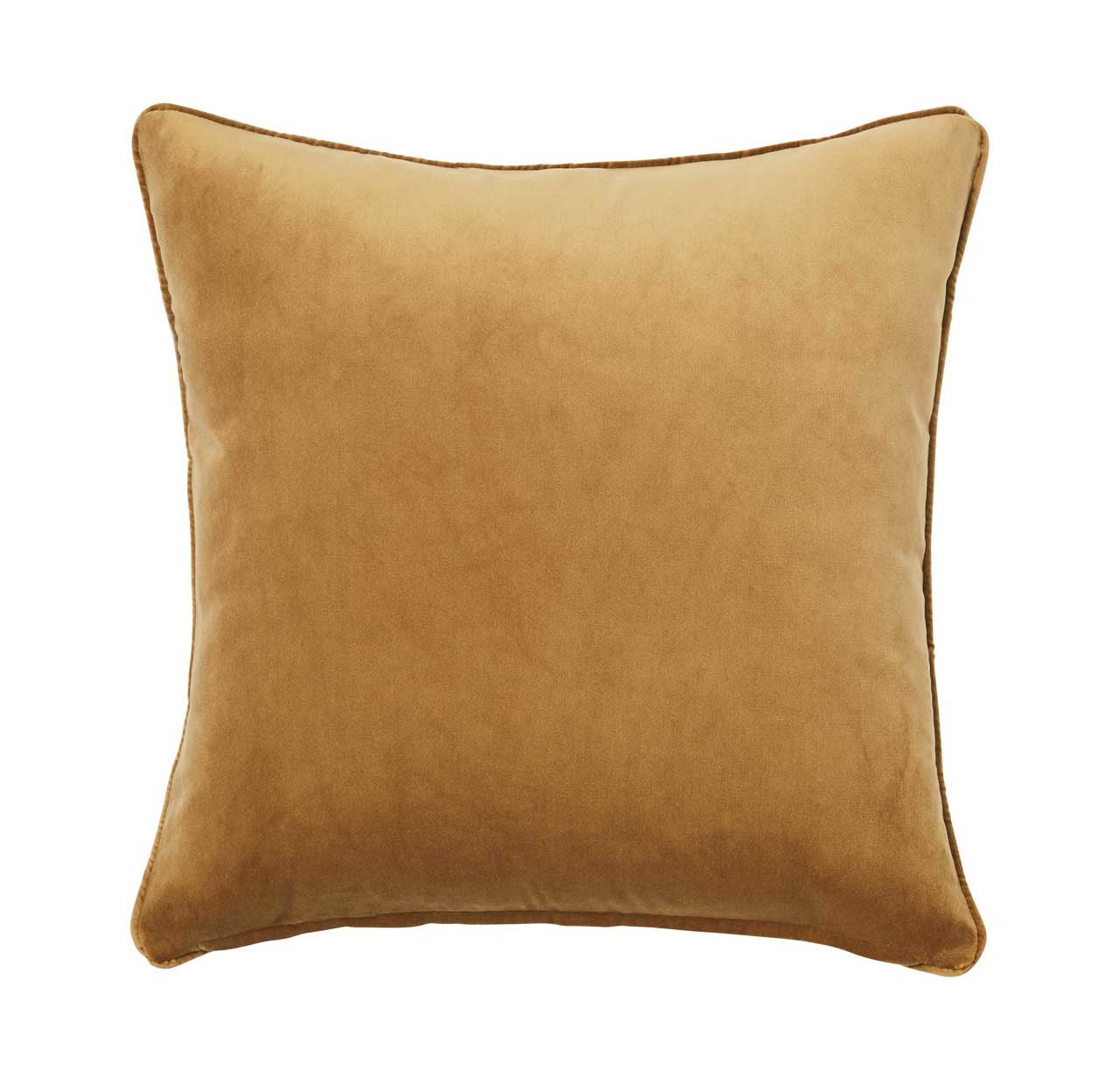 ZOE VELVET CUSHION - BRASS