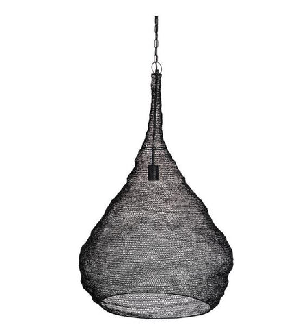 LARGE WIRE BULB PENDANT- BLACK