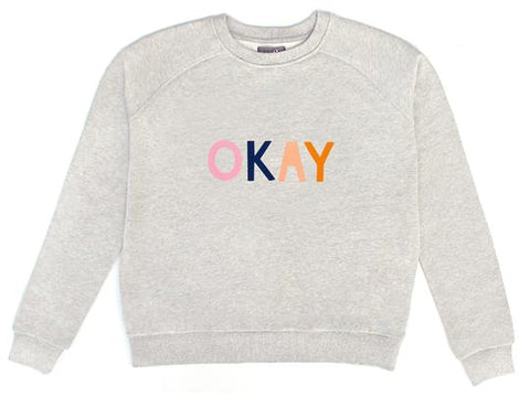 CASTLE - GREY MARLE OKAY SWEATER