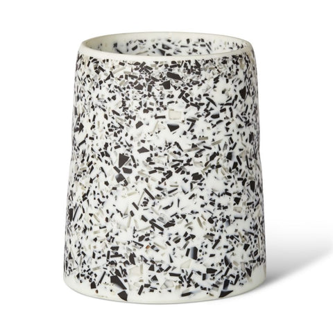 CURVACEOUS RESIN VASE - TORT TERRAZZO