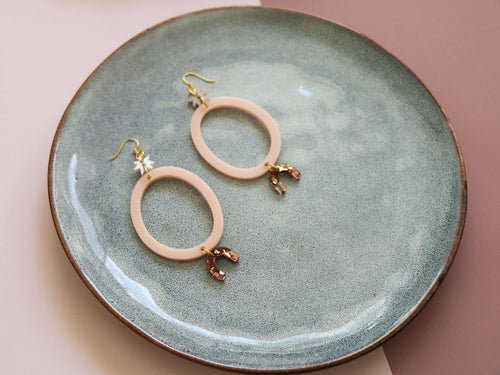 MURPHY MADE DAY TRIPPER EARRINGS - Pastel Pink, Pearl Pink & Copper