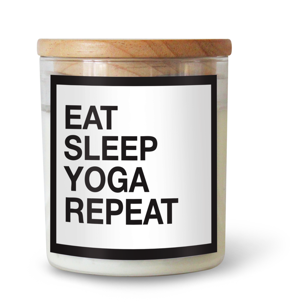 EAT SLEEP YOGA REPEAT SOY CANDLE