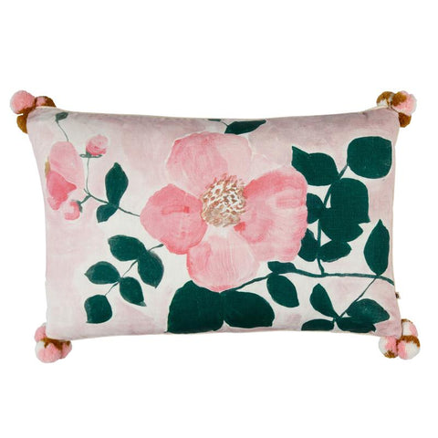 TEA ROSE PINK CUSHION