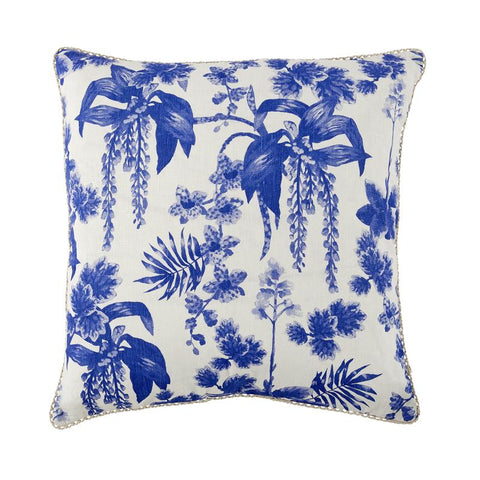 DANCING LADY ORCHID BLUE CUSHION