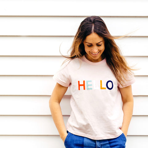 CASTLE - PINK HELLO T-SHIRT