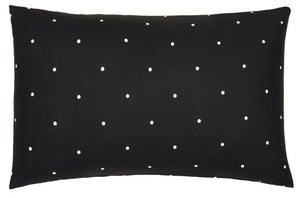 CASTLE - LICORICE PIN SPOT LINEN PILLOWCASE