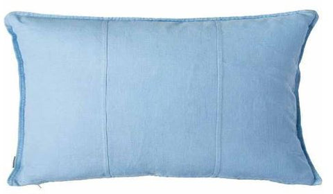 LUCA LINEN RECTANGLE CUSHION - SOFT BLUE